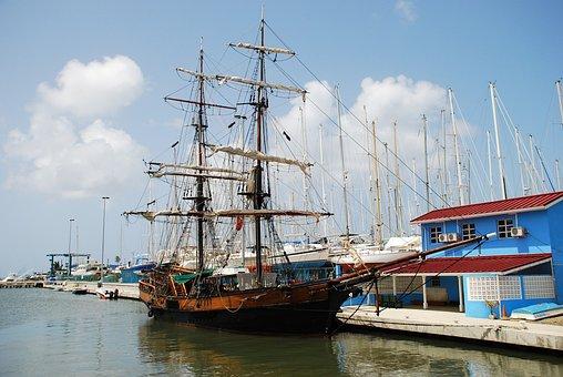 Sailboat, Ship, Pirate, Brig, Pirates Of Caribbean
