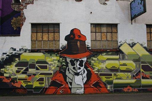 Graffiti, Rorschach, Comics, Comic, Super Hero