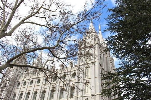 Salt Lake City, Temple, Mormon, Downtown, Building