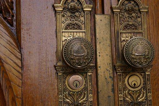 Door, Temple, Salt Lake, Mormon, Lds, Church, Old