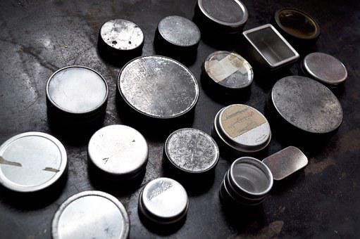 Vintage, Antique, Watch, Tin, Box, Round, Metal, Rusty
