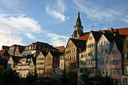 Tübingen, Old Town, Neckar, Homes, Old, Historically