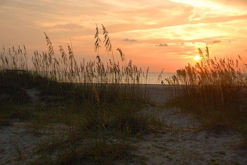 Sunrise, Tybee Island, Georgia, Beauty, Majestic, Beach