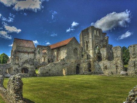 Ruins, Priory Ruins, Uk, Abandon Building, Castle Acre