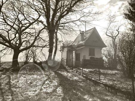 Witch's House, Tübingen, Back Light, Home, Garden