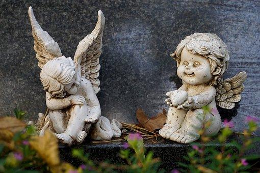 Angel, Angel Figure, Angel Wings, Grave Of Angels