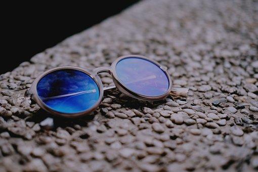 Sunglasses, Shades, Blue, Summer, Fashion, Happy, Woman