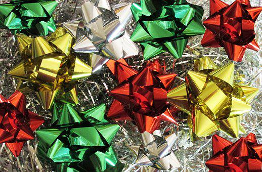 Christmas, Ribbon, Decoration