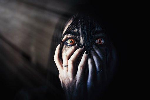 Eyes, Evil, Faceless, Hair, Scary, Hand, Closeup