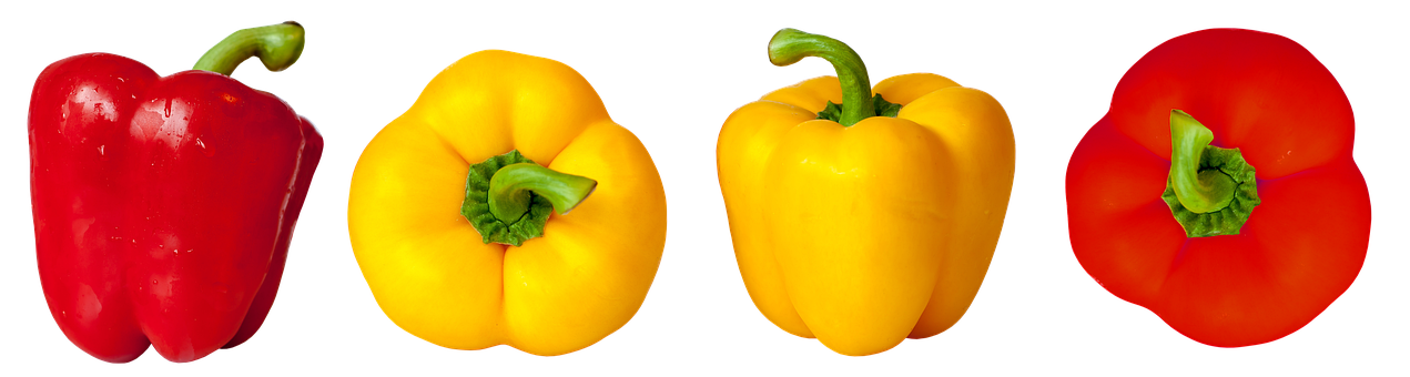 Paprika, Vegetables, Red Pepper, Food, Red, Yellow