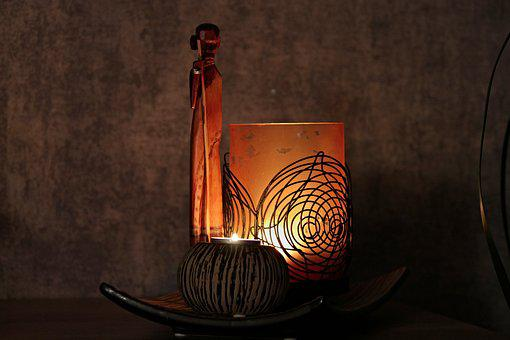 Candle, Decoration, Figure, African, Africa, Holzfigur