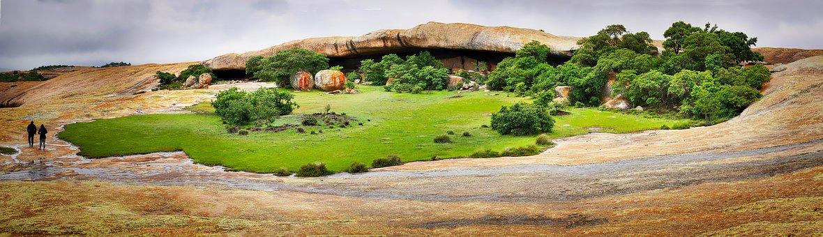 Africa, Matopo Hills, National Park, Rock, Landscape
