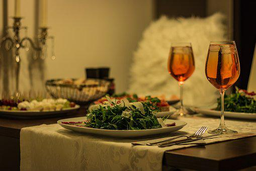 Dinner, Menu, Table, Restaurant, Gedeckter Table