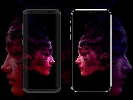 Iphone X, Samsung Galaxy S8, Technology, Modern, Ios