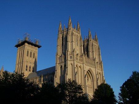 Washington, Architecture, Columbia, National, Cathedral