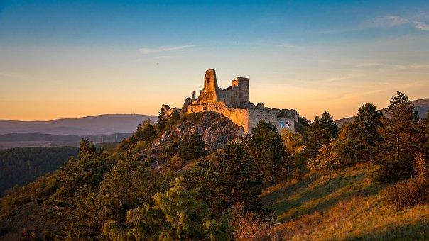 Castle, Old, Middle Ages, Bathory Elisabeth, Monument