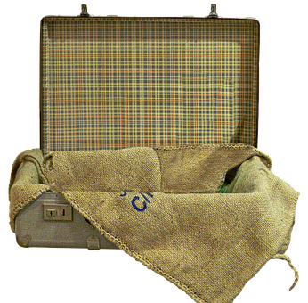 Luggage, Old Suitcase, Jute Bag, Bag, Leather Suitcase