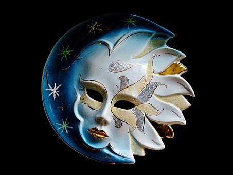 Plate, Wall Plate, Mask, Decoration, Deco, Head