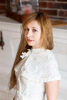 Girl, Portrait, White Dress, View, Bridesmaid Dress
