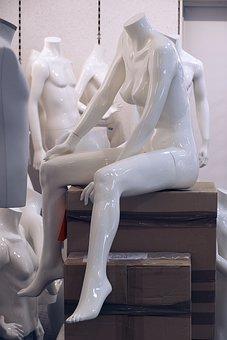 Mannequin, Sitting, Display Dummy, Female, Feminine