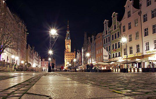 Gdańsk, Long Market, Street, The Town Hall