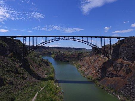 Bridge, Idaho, Twin Falls, Water, River, Outdoors
