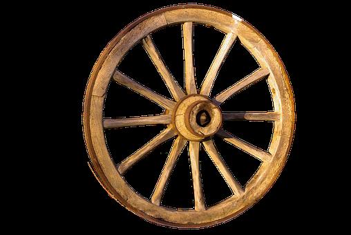 Wheel, Wood, Wagon Wheel, Isolated, Wooden Wheel