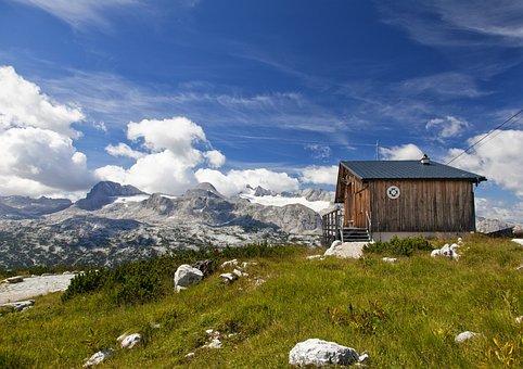 Dachstein, Alm, Alpine Hut, Alpine, Glacier, Mountains