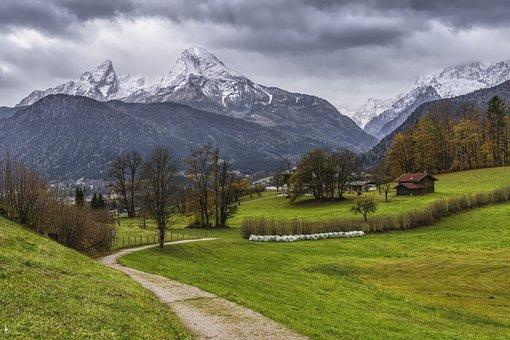 Trail, Watzmann, Berchtesgaden, Berchtesgaden Alps