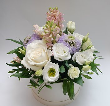 Bouquet, White, Roses, Elegant, Celebration, Rose