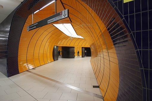 Munich, City, Bavaria, Germany, Metro, Marienplatz