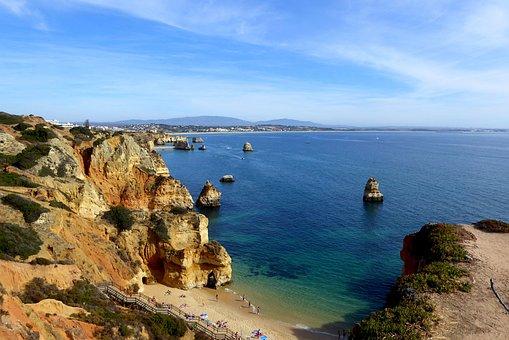 Beach, Algarve, Lagos, Portugal, Coast, Booked, Holiday