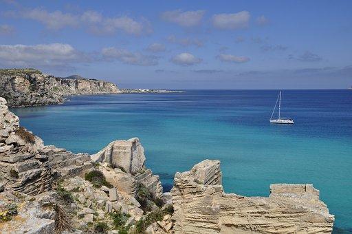 Sea, Sicily, Favignana, Costa, Island