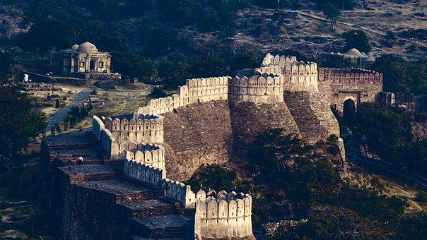 Kumbhalgarh, Fort, Architecture, India, Rajasthan