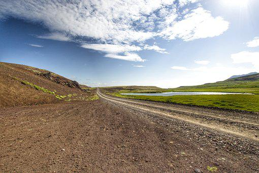 Iceland, Road, Gravel, Road Trip, Spererated