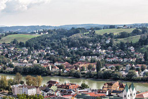 Passau, City, Old Town, River, Inn, Historically