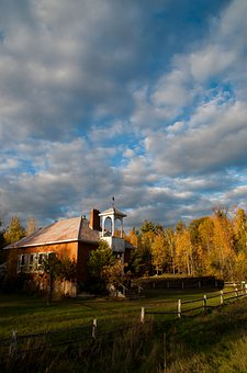 Fall, Sky, Clouds, Autumn, Landscape, Yellow, Leaves
