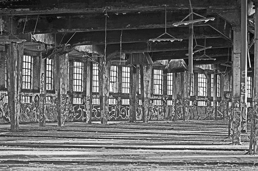 Lost Place, Roundhouse, Rheine-hit Horst, Leave, Decay
