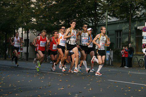 Marathon, Berlin, Runners, Run, Sport, Athletes