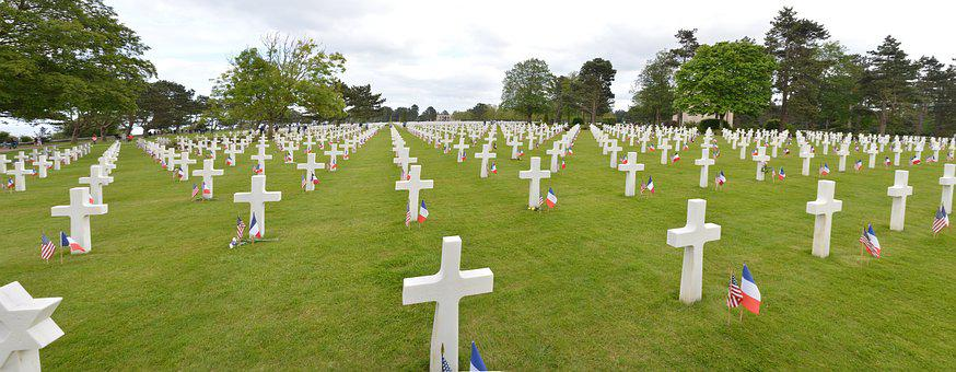 Cemetery, Military, Normandy, War, Silence, Tribute