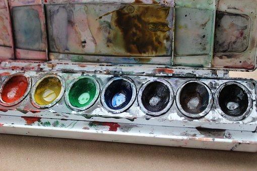 Watercolor, Paint, Palette, Color, Rainbow, Watercolour
