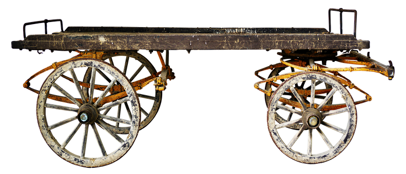 Cart, Transport Carts, Old, Post, Platform, Dare