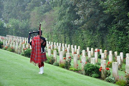 Cemetery, Military Cemetery, Veteran, Scotland