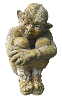 Figure, Sculpture, Gnome, Stone Figure, Sitting, Statue