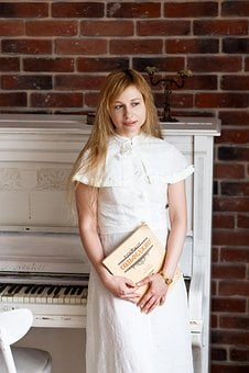 Sheet Music, Piano, Music, Girl, Keys, The Treble Clef