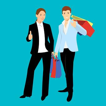 Shopping, Family, Sale, Cartoon Character, Idea, Bags