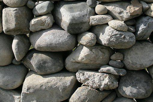 Pebbles, Wall, Background, Stones, Grey