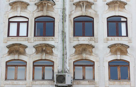Portugal, Coimbra, Windows, Streetscene, Architecture