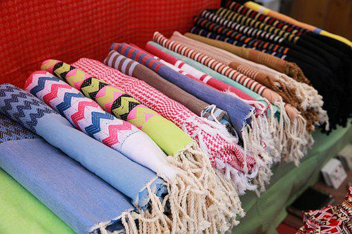 Towels, Products, Stripy, Beach, Outdoor, Resort