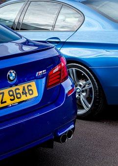 Bmw M5, F10, Blue, Car, Vehicle, Auto, Automobile